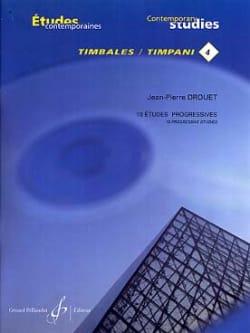 4-18 Etudes progressives - Etudes contemporaines timbales 4 laflutedepan