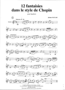 12 Petites fantaisies dans le style de Chopin laflutedepan
