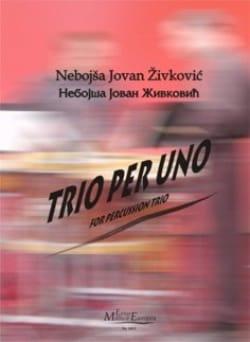 Trio Per Uno Opus 27 Nebojsa jovan Zivkovic Partition laflutedepan