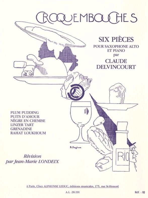 Croquembouches - Claude Delvincourt - Partition - laflutedepan.com