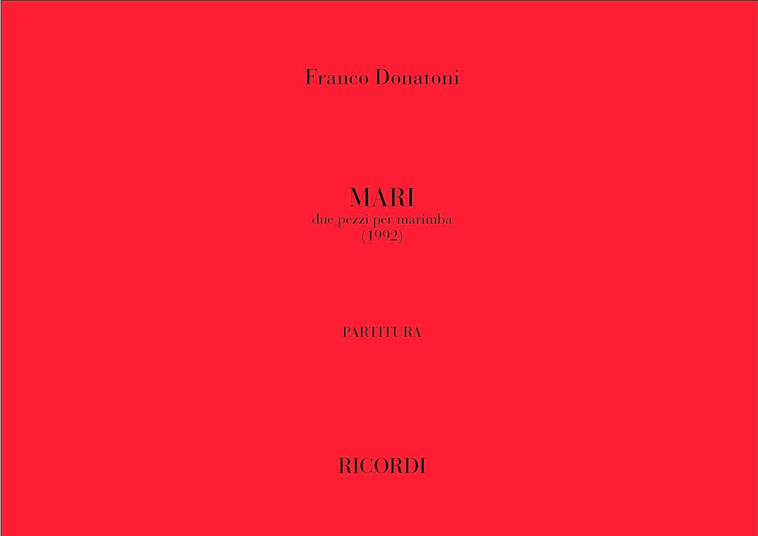 Mari - Franco Donatoni - Partition - Marimba - laflutedepan.com