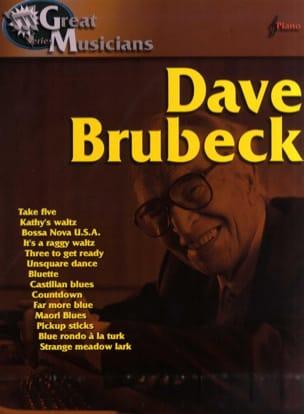 Brubeck Dave Great Musicians Dave Brubeck Partition laflutedepan