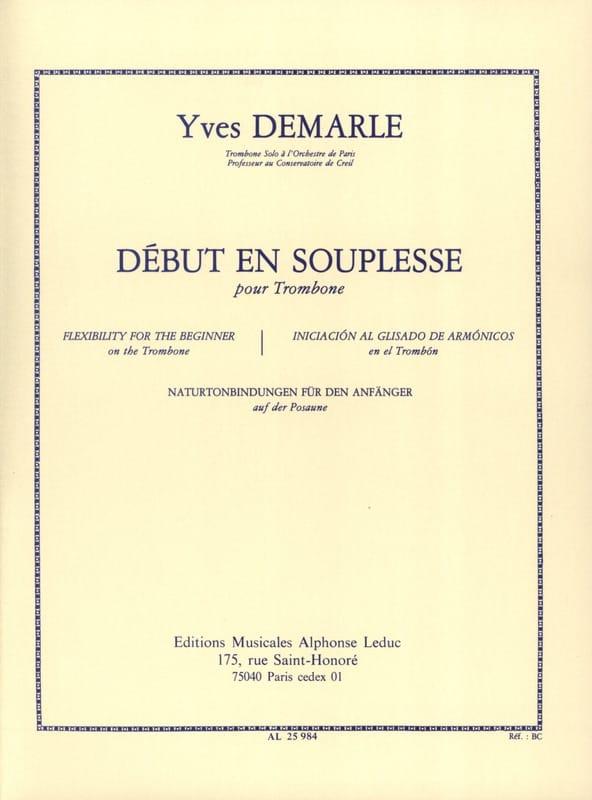 Début en souplesse - Yves Demarle - Partition - laflutedepan.com