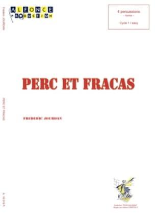 Perc et fracas - Frédéric Jourdan - Partition - laflutedepan.com