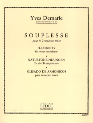 Souplesse Yves Demarle Partition Trombone - laflutedepan