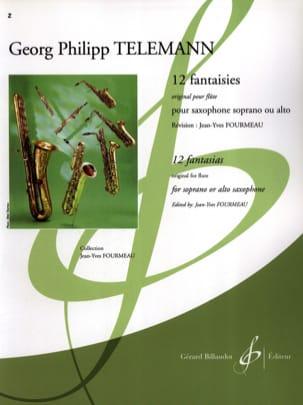 12 Fantaisies pour Saxophone TELEMANN Partition laflutedepan