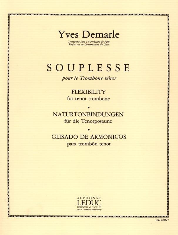 Souplesse - Yves Demarle - Partition - Trombone - laflutedepan.com
