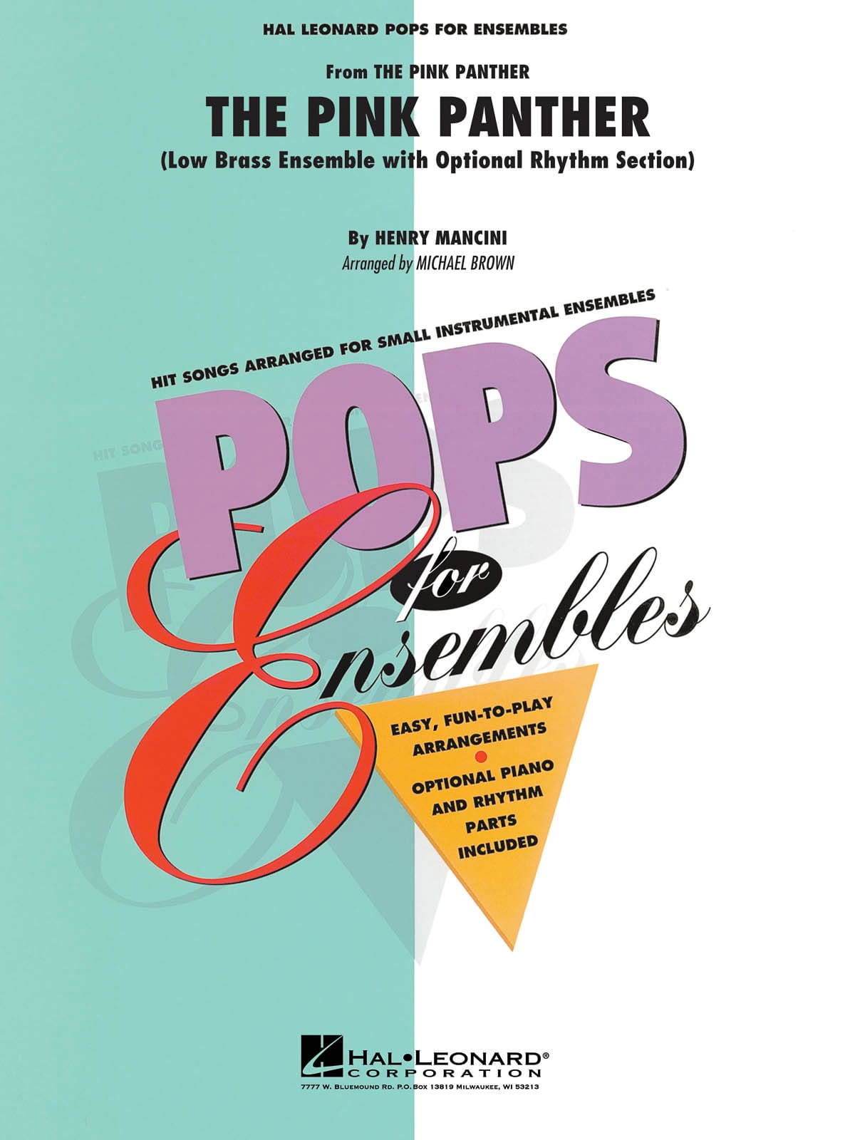 The Pink Panther - Pops For Ensembles - MANCINI - laflutedepan.com