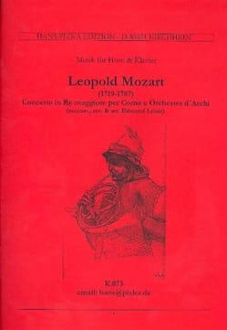 Concerto In Re Maggiore. Cor Leopold Mozart Partition laflutedepan
