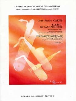 L' A.B.C. du Saxophoniste Volume 2 Jean-Pierre Caens laflutedepan