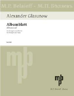 Albumblatt -Trompette GLAZOUNOV Partition Trompette - laflutedepan