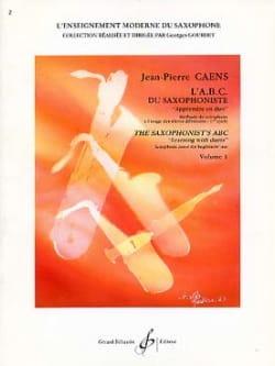 L' A.B.C. du Saxophoniste Volume 1 Jean-Pierre Caens laflutedepan