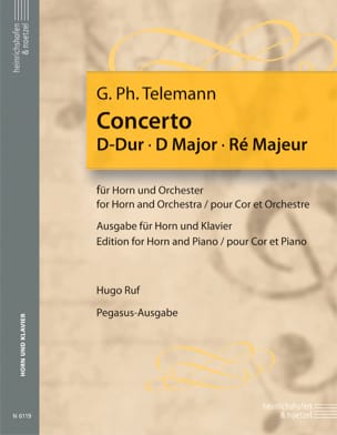 Concerto en ré majeur TELEMANN Partition Cor - laflutedepan