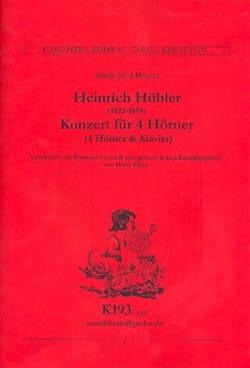 Concerto pour 4 Cors Heinrich Hübler Partition Cor - laflutedepan