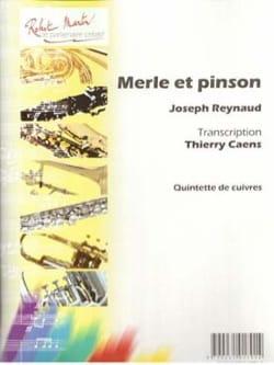 Merle et Pinson Joseph Reynaud Partition laflutedepan
