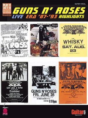 Live Era '87-'93 Highlights Guns N' Roses Partition laflutedepan