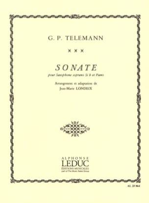 Sonate TELEMANN Partition Saxophone - laflutedepan