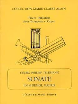 Sonate En Sib Majeur TELEMANN Partition Trompette - laflutedepan