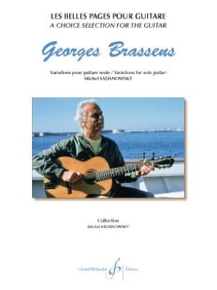Les belles pages pour guitare Georges Brassens Partition laflutedepan