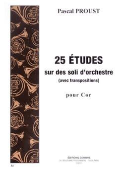 25 Etudes sur des soli d'orchestre Pascal Proust laflutedepan