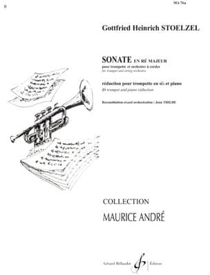 Sonate en Ré Majeur - Gottfried H Stölzel - laflutedepan.com
