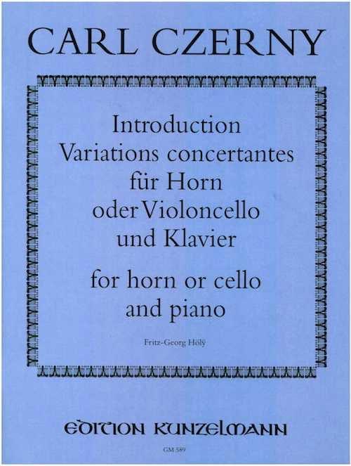 Introduction Variations Concertantes - CZERNY - laflutedepan.com