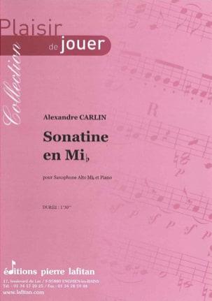 Sonatine en mib Alexandre Carlin Partition Saxophone - laflutedepan
