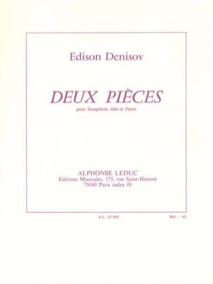 Deux Pièces Edison Denisov Partition Saxophone - laflutedepan