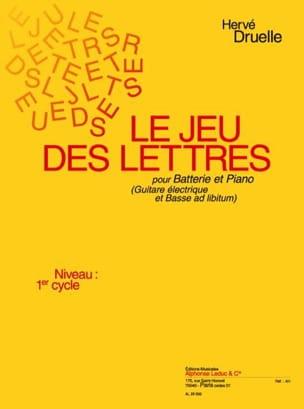 Le Jeu Des Lettres Hervé Druelle Partition Batterie - laflutedepan