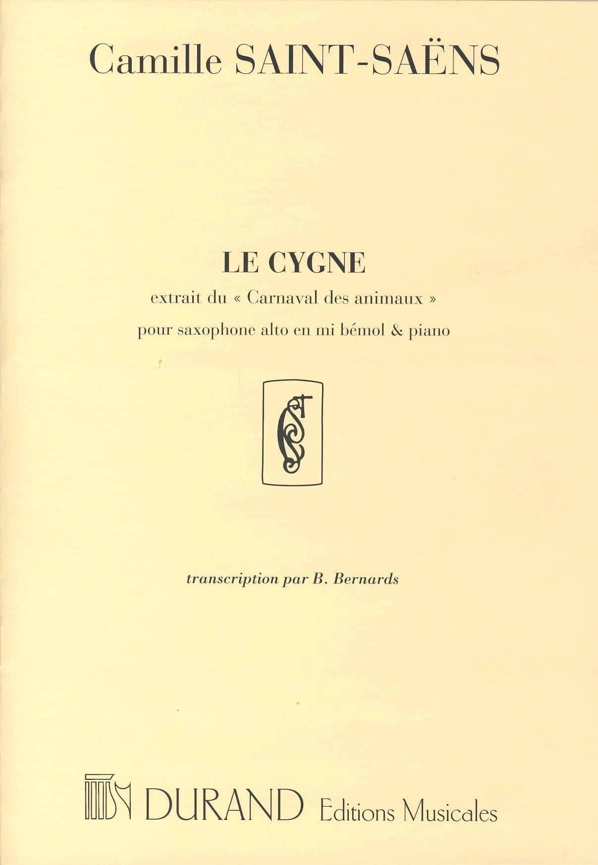 Le Cygne - SAINT-SAËNS - Partition - Saxophone - laflutedepan.com