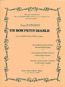 Un bon petit diable Guy Luypaerts Partition Saxophone - laflutedepan