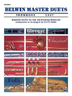 Belwin Master Duets Easy Volume 1 Partition Trombone - laflutedepan