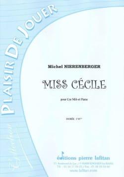 Miss Cécile Michel Nierenberger Partition Cor - laflutedepan