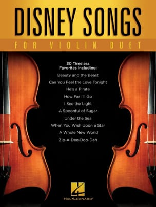 Disney Songs for Violin Duet DISNEY Partition Violon - laflutedepan