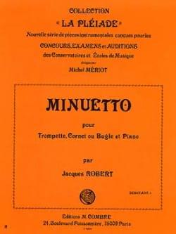 Minuetto Jacques Robert Partition Trompette - laflutedepan