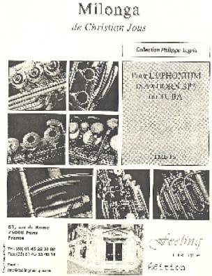 Milonga - Christian Jous - Partition - Tuba - laflutedepan.com