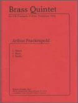 Brass quintet Arthur Frackenpohl Partition laflutedepan