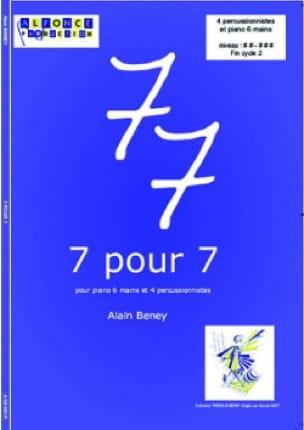 7 Pour 7 - Alain Beney - Partition - laflutedepan.com