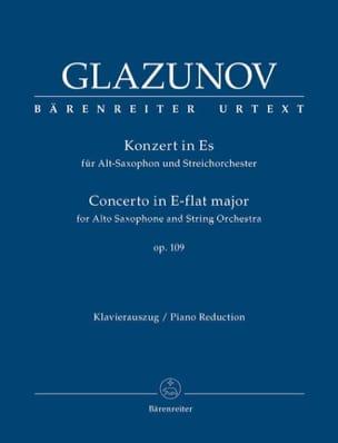 Concerto in E-Flat Major Op.109 GLAZOUNOV Partition laflutedepan