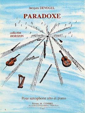 Paradoxe Jacques Devogel Partition Saxophone - laflutedepan