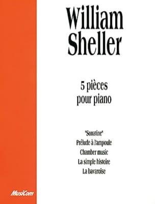 William Sheller - 5 Pieces For Piano - Partition - di-arezzo.com