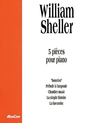 5 Pièces Pour Piano - William Sheller - Partition - laflutedepan.com