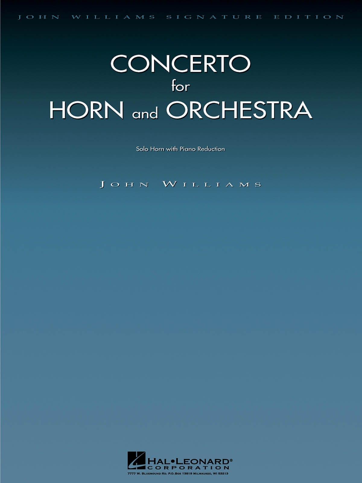 Concerto For Horn - John Williams - Partition - Cor - laflutedepan.com