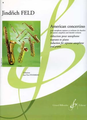 American Concertino Jindrich Feld Partition Saxophone - laflutedepan