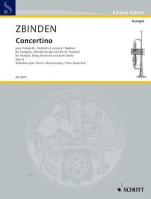 Concertino Opus 6 Julien-François Zbinden Partition laflutedepan