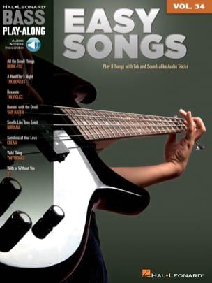 Bass Play-Along Volume 34 - Easy Songs Partition laflutedepan