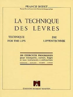 La Technique des Lèvres Francis Bodet Partition laflutedepan
