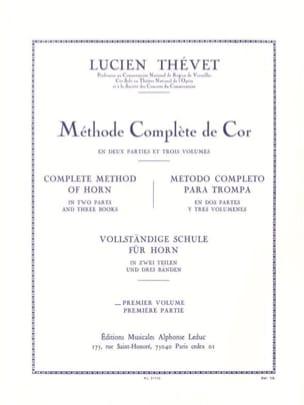 Méthode Complète Volume 1 Lucien Thévet Partition Cor - laflutedepan