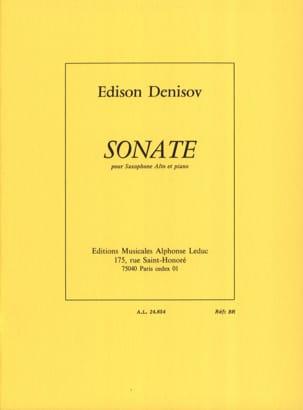 Sonate Edison Denisov Partition Saxophone - laflutedepan