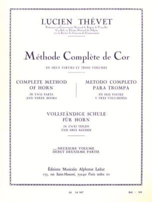 Méthode Complète Volume 2 Lucien Thévet Partition Cor - laflutedepan